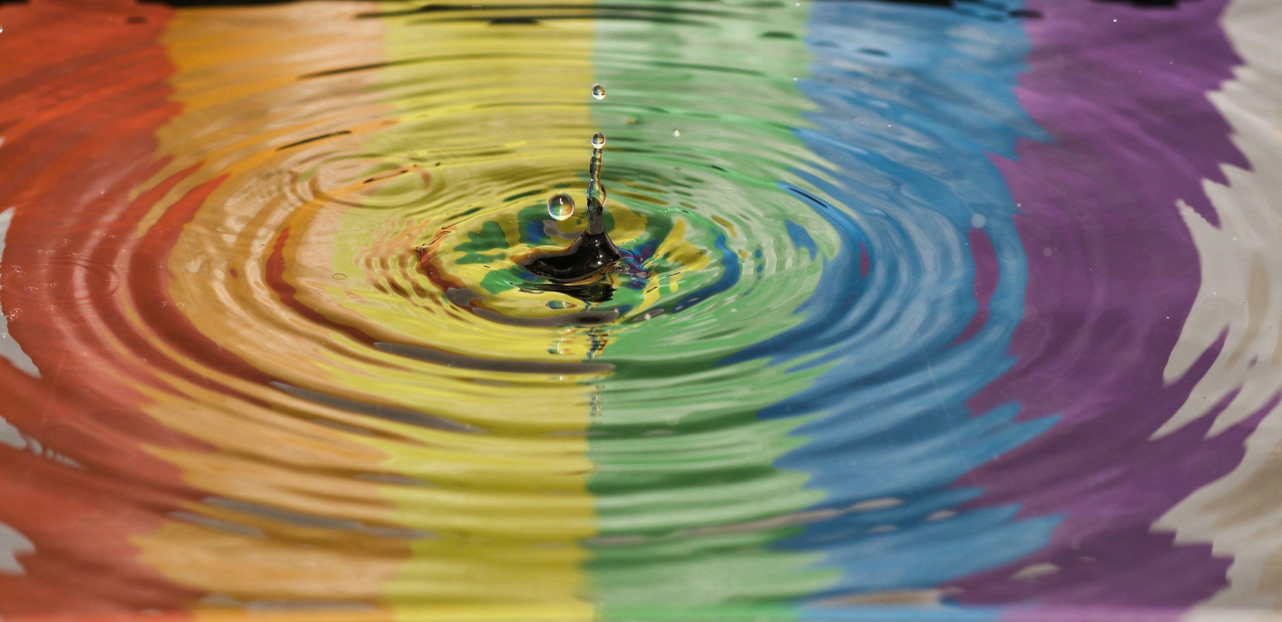 Unsplash rainbow water ripples